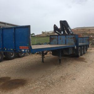 Trailer with HIAB 140
